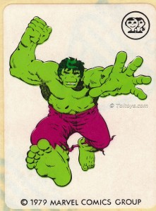 IMG0007wtmk 221x300 Scanlens 1979 Incredible Hulk Stickers