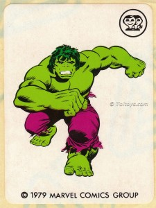 IMG0010wtmk 225x300 Scanlens 1979 Incredible Hulk Stickers