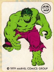 IMG0011wtmk 227x300 Scanlens 1979 Incredible Hulk Stickers