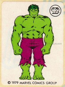 IMG0012wtmk 226x300 Scanlens 1979 Incredible Hulk Stickers