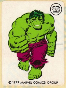 IMG0014wtmk 228x300 Scanlens 1979 Incredible Hulk Stickers