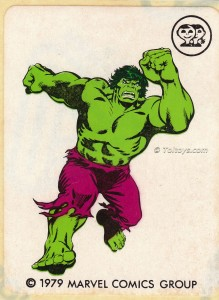 IMG0015wtmk 219x300 Scanlens 1979 Incredible Hulk Stickers
