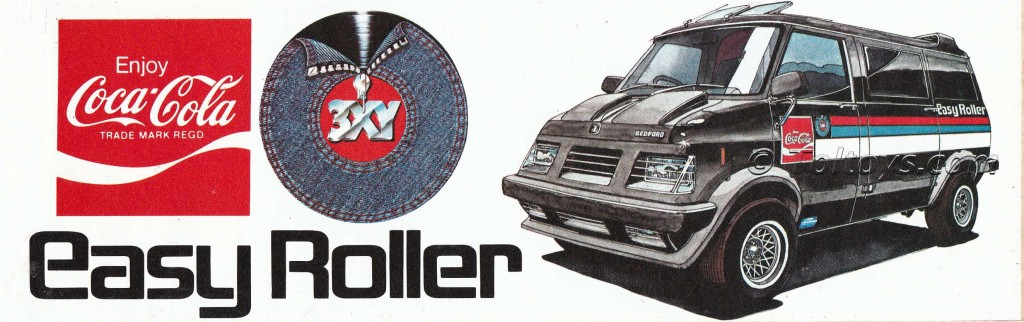 Promo sticker for 3XY / Coca Cola Easy Roller