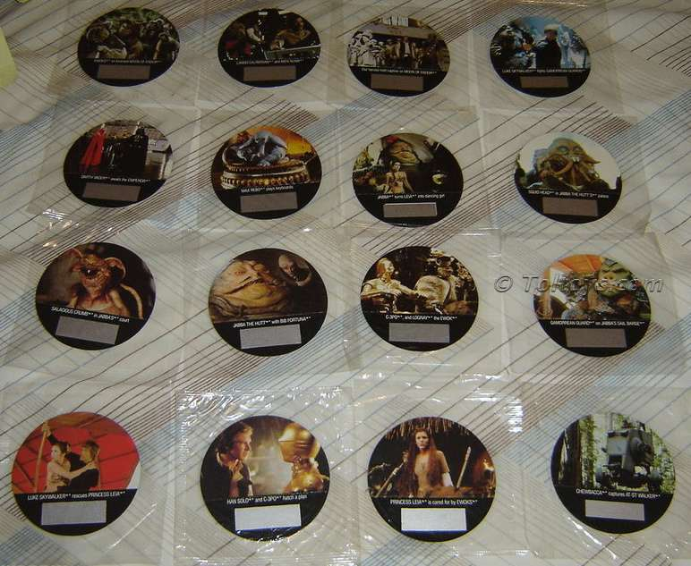 DSC08293wtmk Full Set of Kelloggs Return of the Jedi Decoder Discs