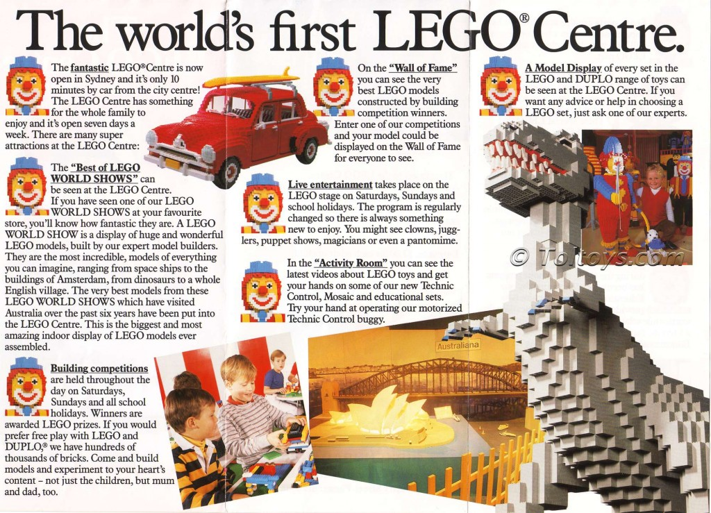 LegoCentreBackwtmk1 1024x739 The First LEGO Store: Birkenhead Point Sydney LEGO Centre