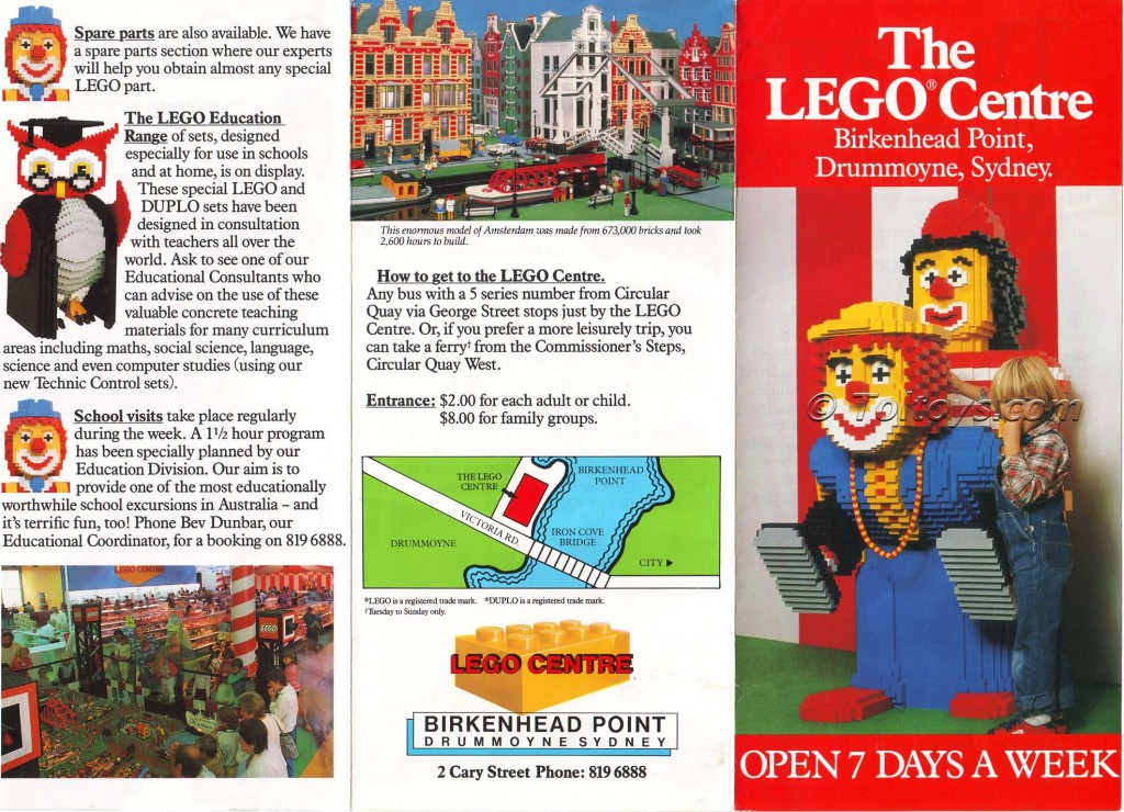 LegoCentreFrontwtmk1 1024x740 The First LEGO Store: Birkenhead Point Sydney LEGO Centre