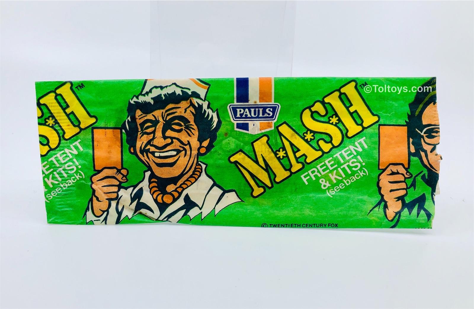 Paul's Ice Cream MASH Wrapper